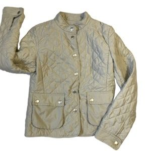 Ann Taylor LOFT Tan Quilted Jacket Size 6